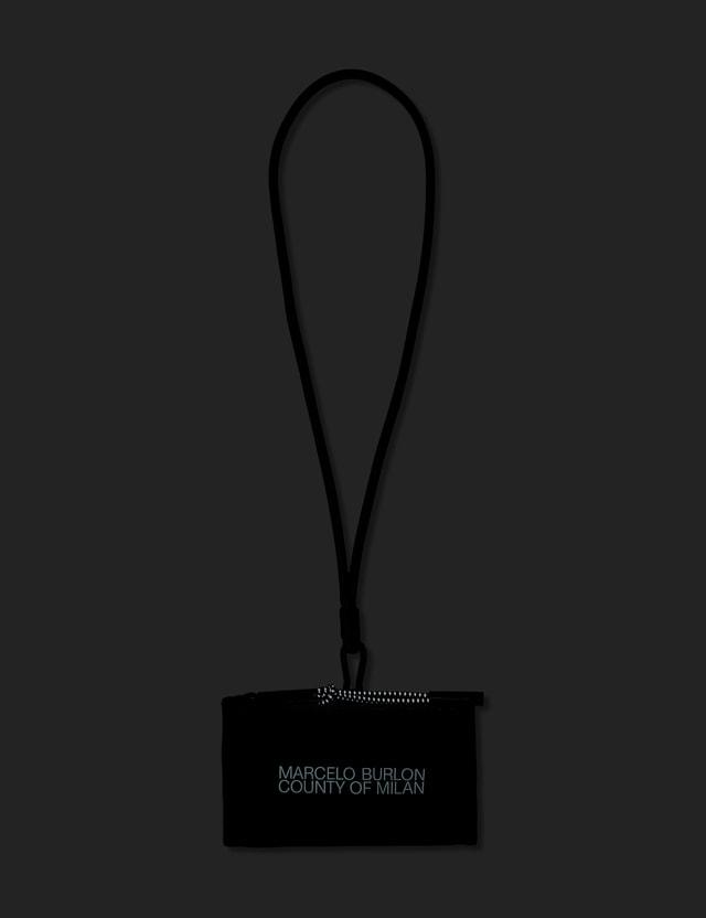 Marcelo Burlon Logo Neck Pouch Black White Men