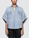 R13 Patti Oversized Short Sleeve Shirt Picture