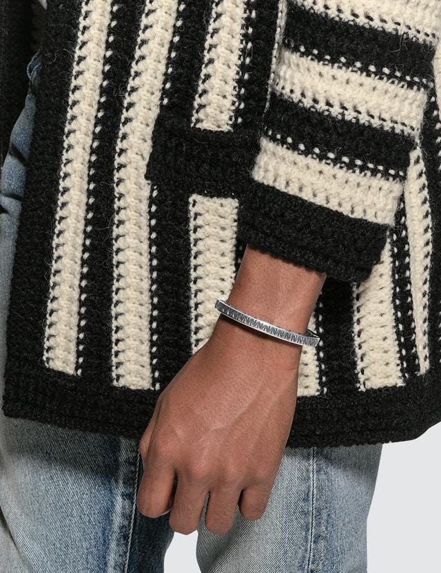 Saint Laurent Marrakech Textured Square Cuff Metal Bracelet