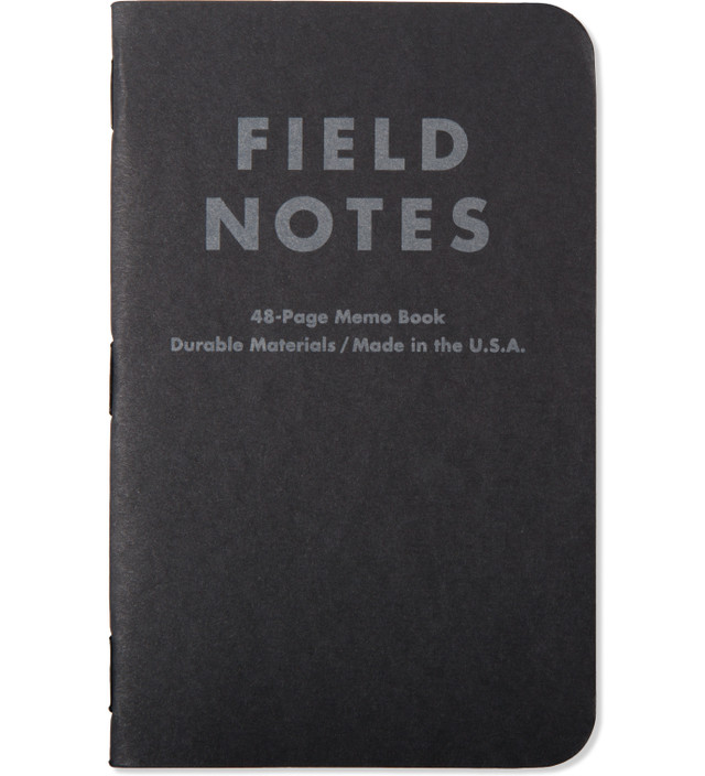 Field Notes 3-Pack Pitch Black