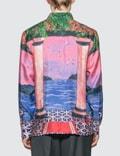 Casablanca Moca Sunset Silk Shirt