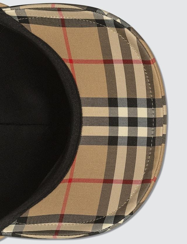 Burberry Logo Detail Vintage Check Baseball Cap