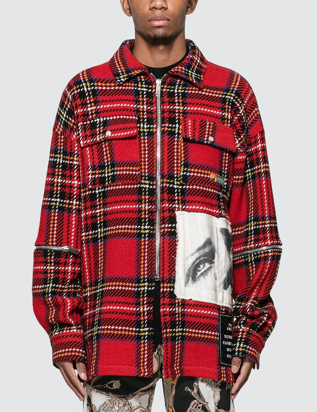 Palm Angels Check Shirt Jacket