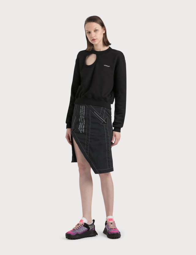 Off-White Nylon Parachute Skirt