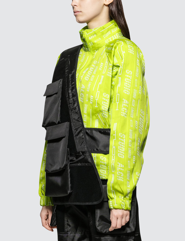ALCH Velcro Panelled Assymetrical Gilet With Removable Pockets