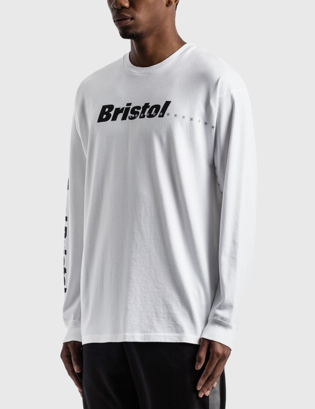 F.C. Real Bristol Reflective 45 Stars Long Sleeve T-Shirt White Men