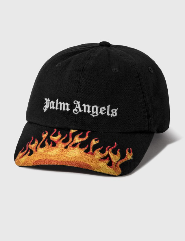 Palm Angels Burning Cap Black White Women