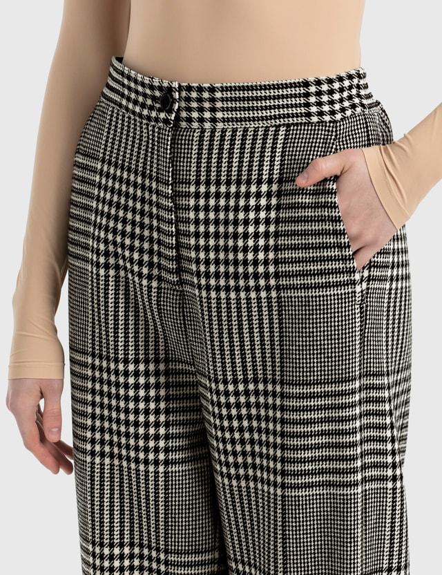 MM6 Maison Margiela Wide Leg Pants In Shetland Check Wool Princess Of Galles Women