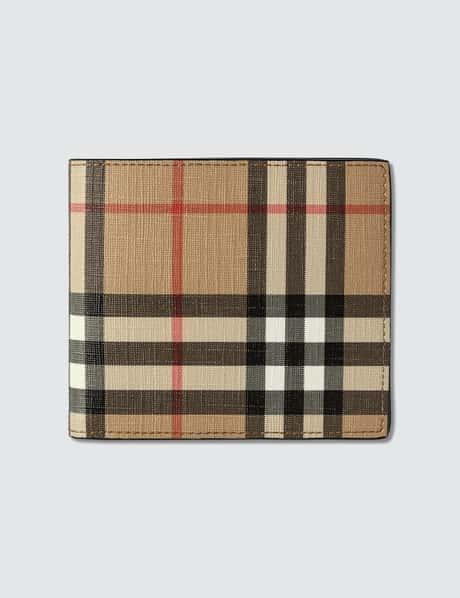 버버리 Burberry Vintage Check E-canvas International Bifold Wallet