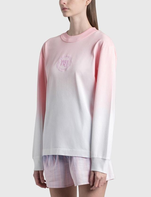 Alexander Wang.T Ombre Long Sleeve T-Shirt Primrose Pink/white Women