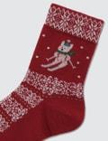 Tabio Kids Jq Wind Rabbit Skier Socks 42: Red Kids