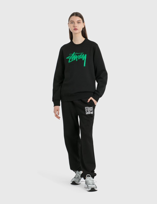 Stussy Stock Crew Sweatshirt Black Women
