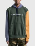 Carhartt Work In Progress Carhartt Hooded Tricol 후드 Dark Teal Men