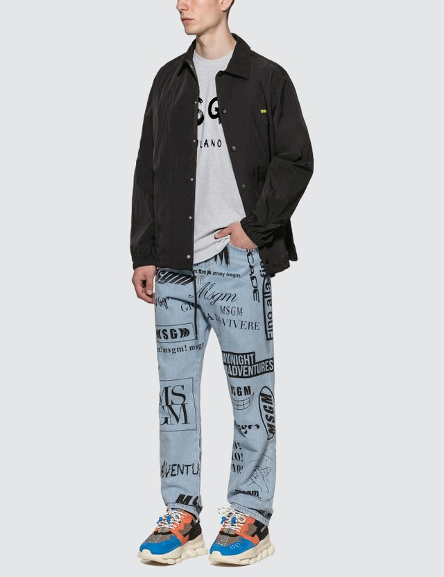 MSGM Multi Logo Denim Pants