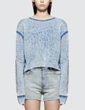John Elliott Snyder Burnout Cropped Crew Sweatshirt Picture