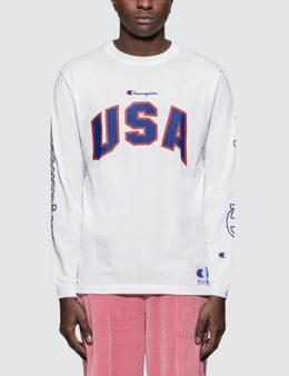 Champion Japan USA Embroidery L/S T-Shirt