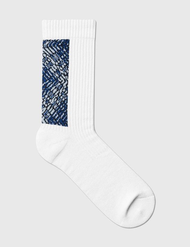 Nozzle Quiz Landing Wild Midcalf Socks 藍岩/blue Rock Men