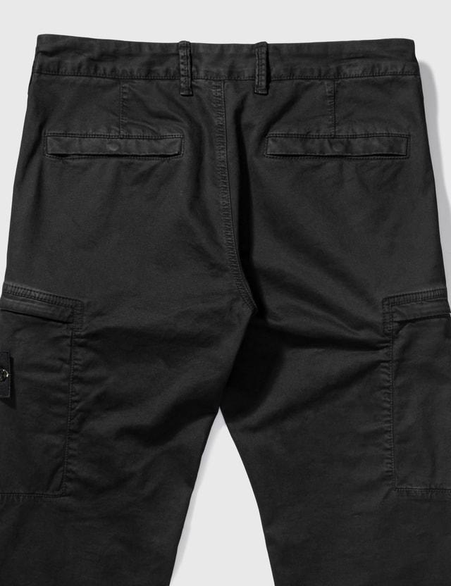 Stone Island Patch Zip Pocket Pants Black Men