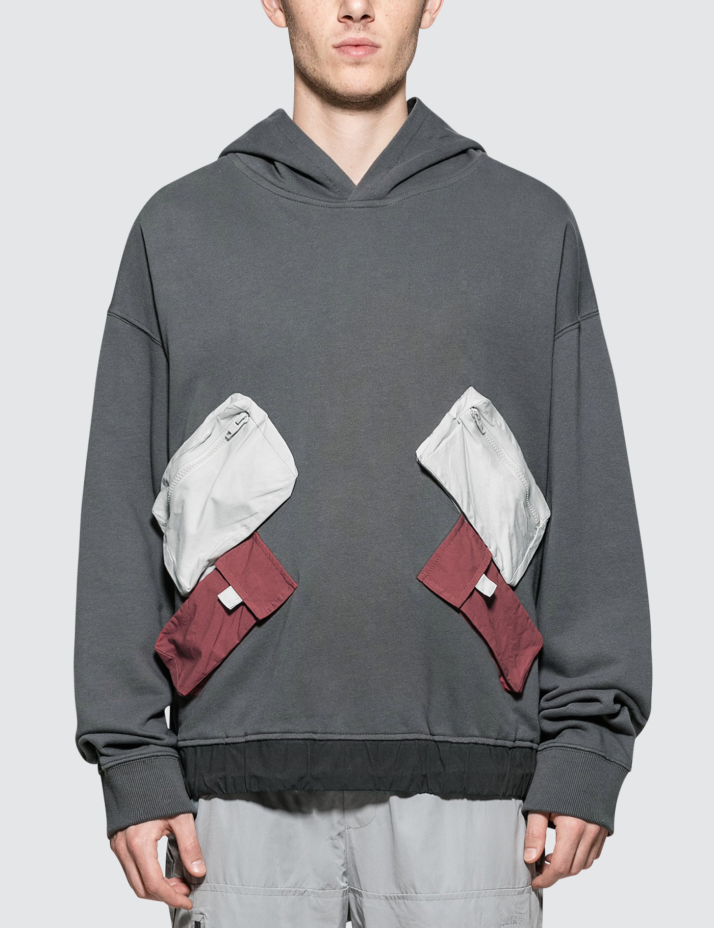 C2H4 Los Angeles Utility Multi-Pockets Data Cable Hoodie Picture