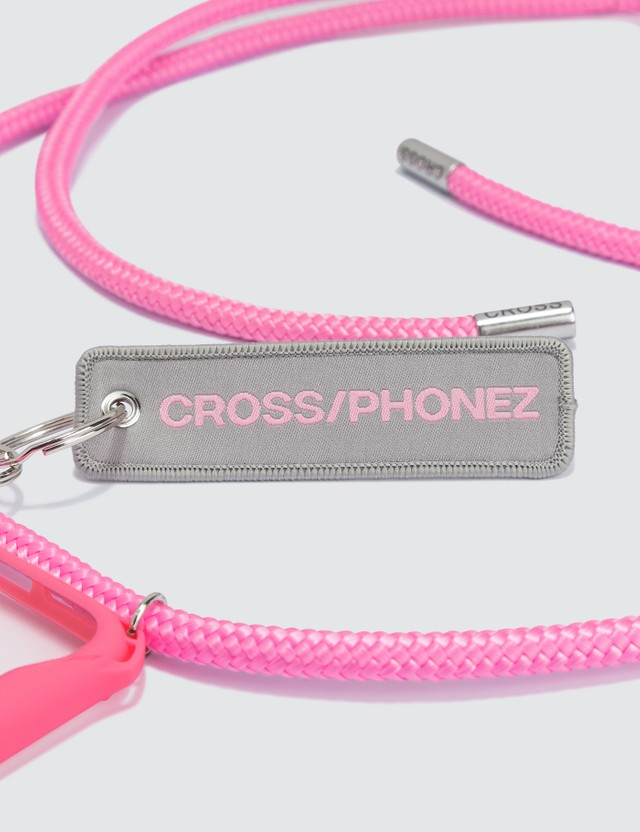 CROSS/PHONEZ Baby Pink Rope With Silver Details iPhone Case