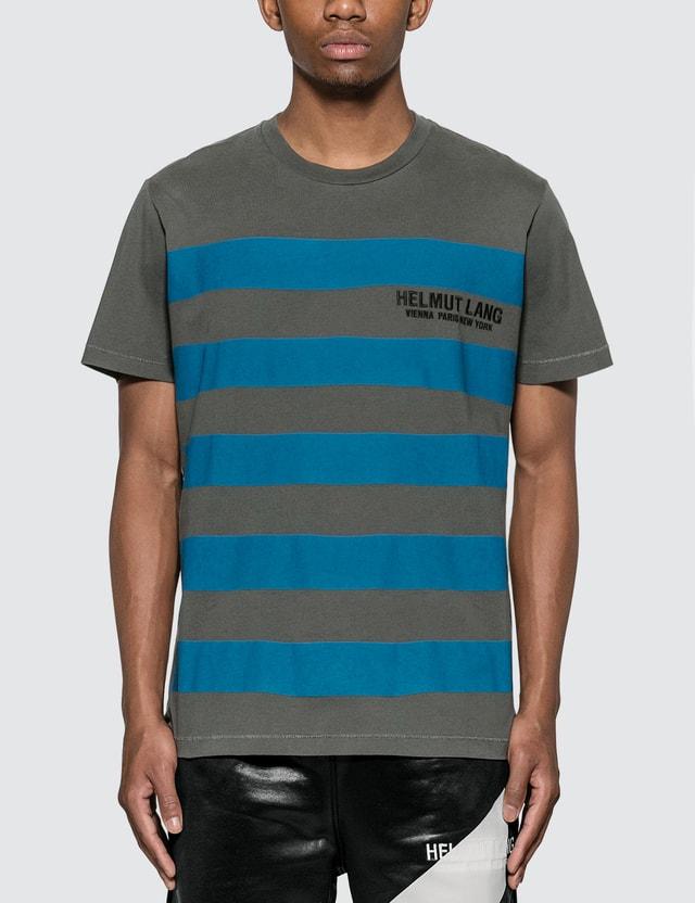 Helmut Lang Standard Bars T-Shirt Pweter Men