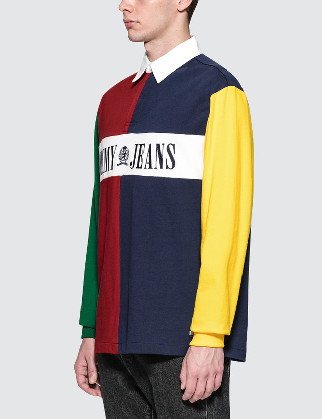 6c892f65 Tommy Jeans - 90s Colorblock Rugby Shirt | HBX