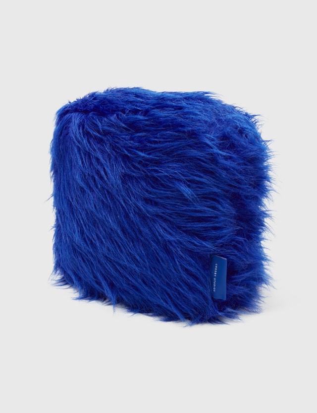 Crosby Studios Blue Furry Pillow Blue Unisex