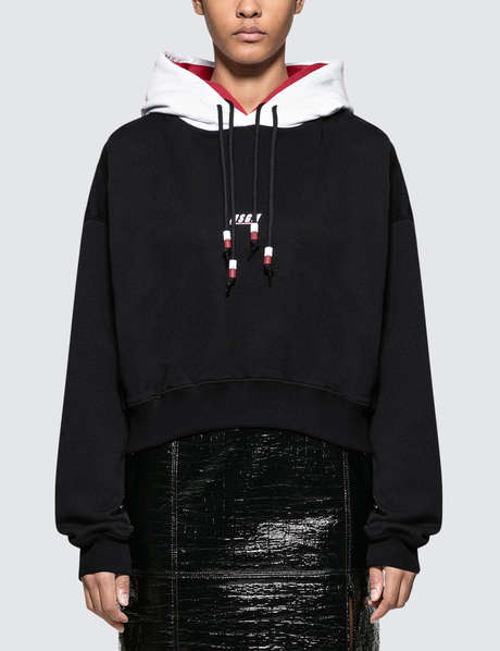 MSGM 후드티 Double Hooded Hoodie