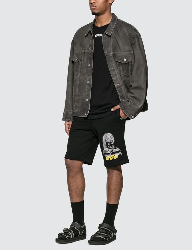 Off-White Disrupted Font Sweat Shorts
