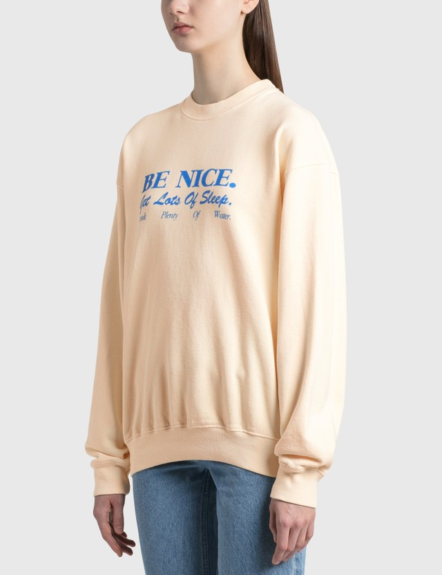 Sporty & Rich Be Nice Crewneck Cream Women