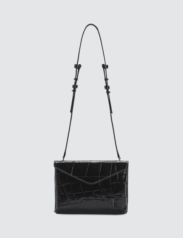 Staud Holly Convertible Croc Emboss Bag
