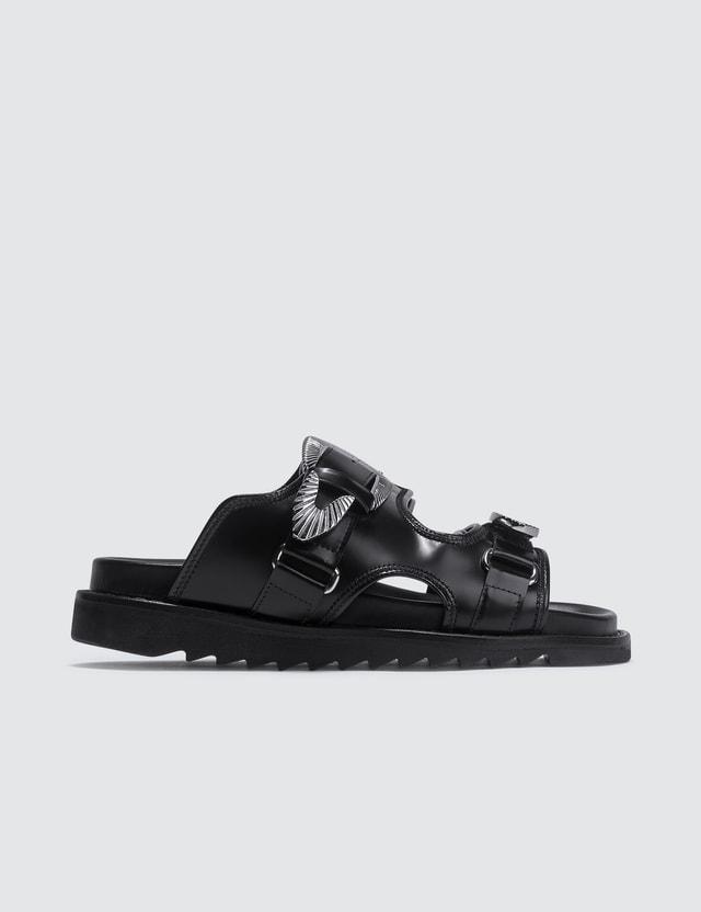 Toga Pulla Strap Leather Sandals