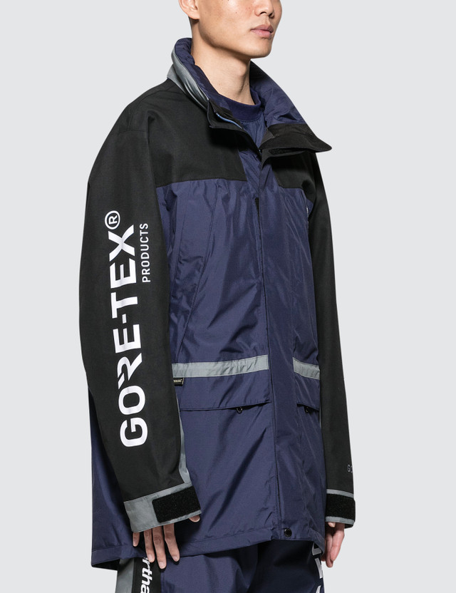 Thisisneverthat Thisisneverthat X Gore-tex City Peak Jacket Navy Men
