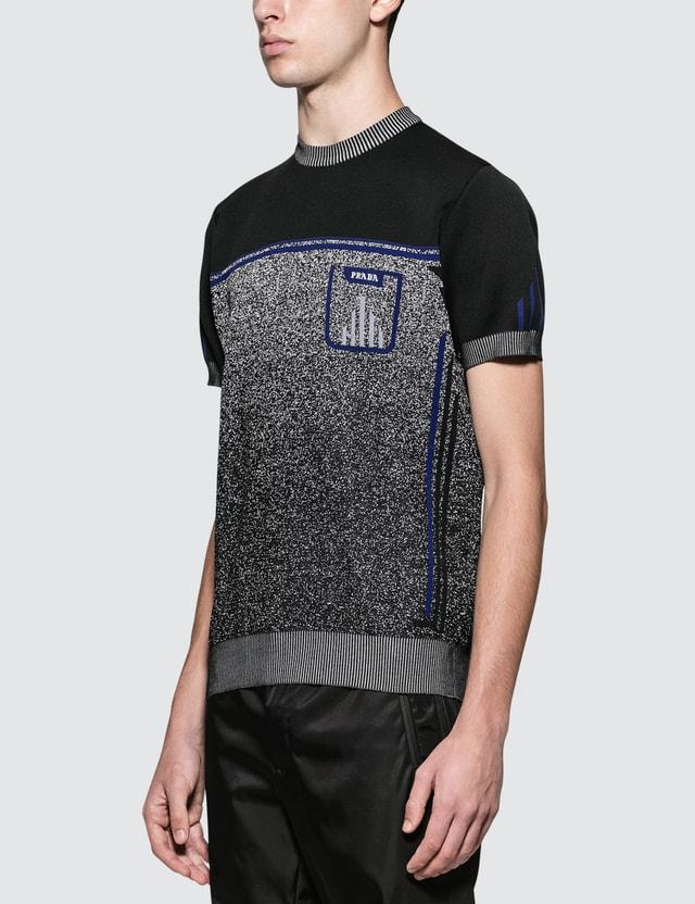 Prada Melange Knitted S/S T-Shirt