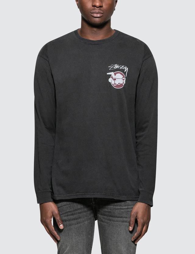 Stussy Skateman Pig. Dyed L/S T-Shirt
