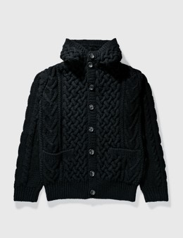 Mastermind Japan Mastermind Japan Cable Knit With Skull Knit Hoodie