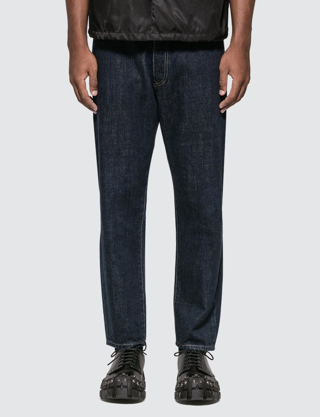 Prada Tiangle Logo Tapered Jeans
