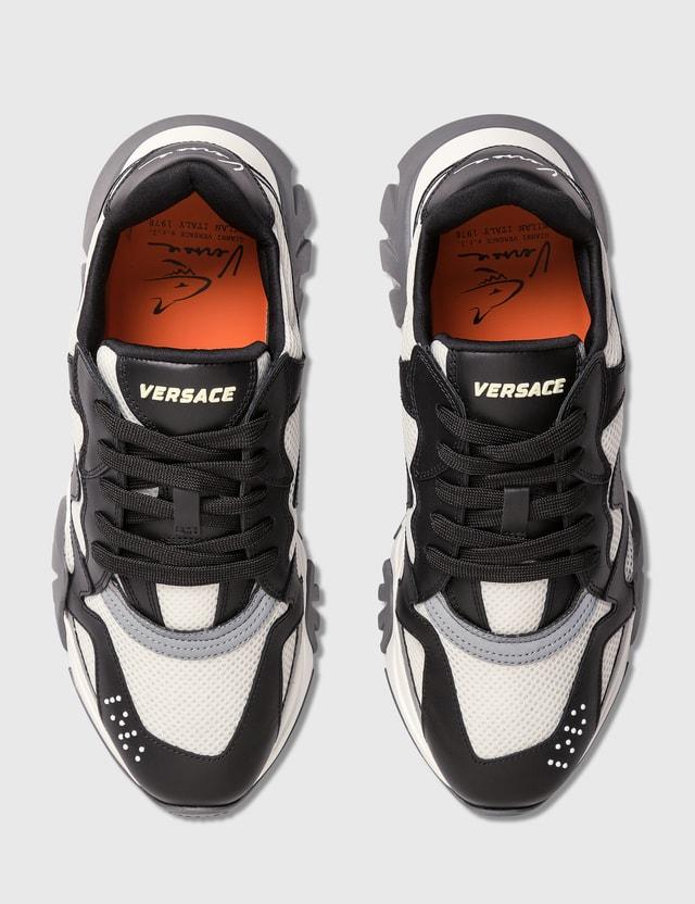 Versace Squalo Sneaker Nero+bianco+argento Men