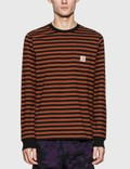 Carhartt Work In Progress Long Sleeve Parker Stripe Pocket T-Shirt Picture