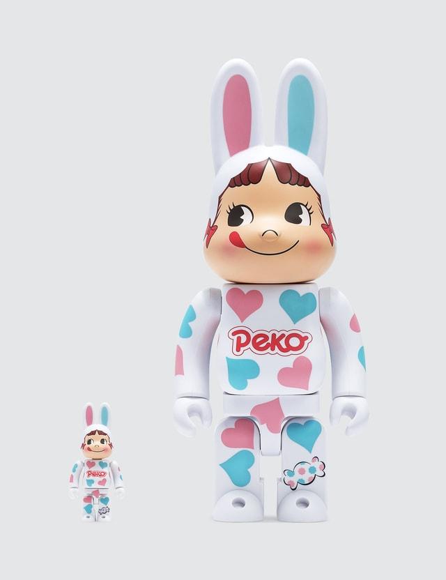 Medicom Toy Kigurumi Peko-Chan Heart Be@rbrick 100% & 400% Set