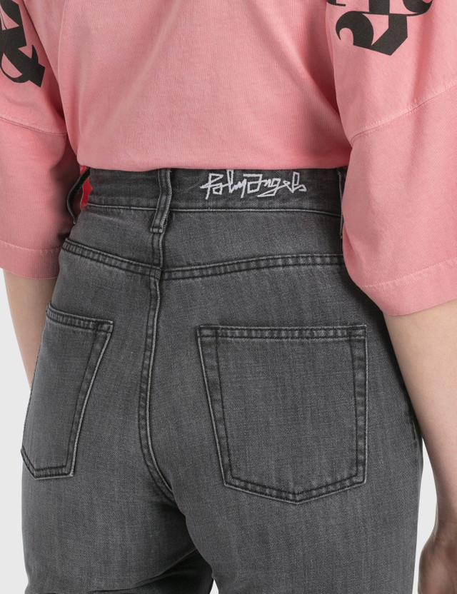 Palm Angels 5 Pockets Jeans Dark Grey White Women