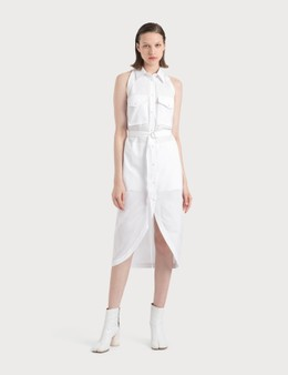 Helmut Lang Cotton Shirt Dress With Collar