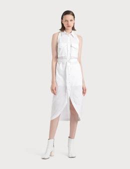 Helmut Lang Cotton Shirt Dress With Collar