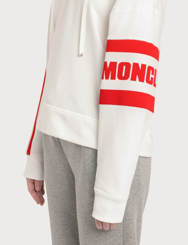 Moncler Logo Cropped Hoodie