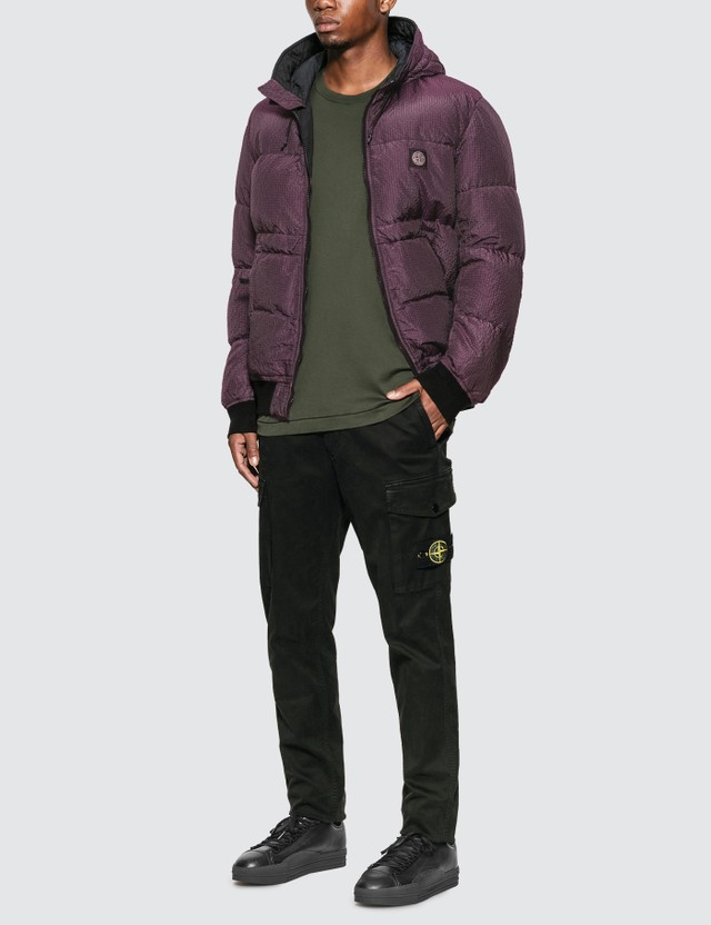 Stone Island Nylon Metal Down Jacket Purple Men