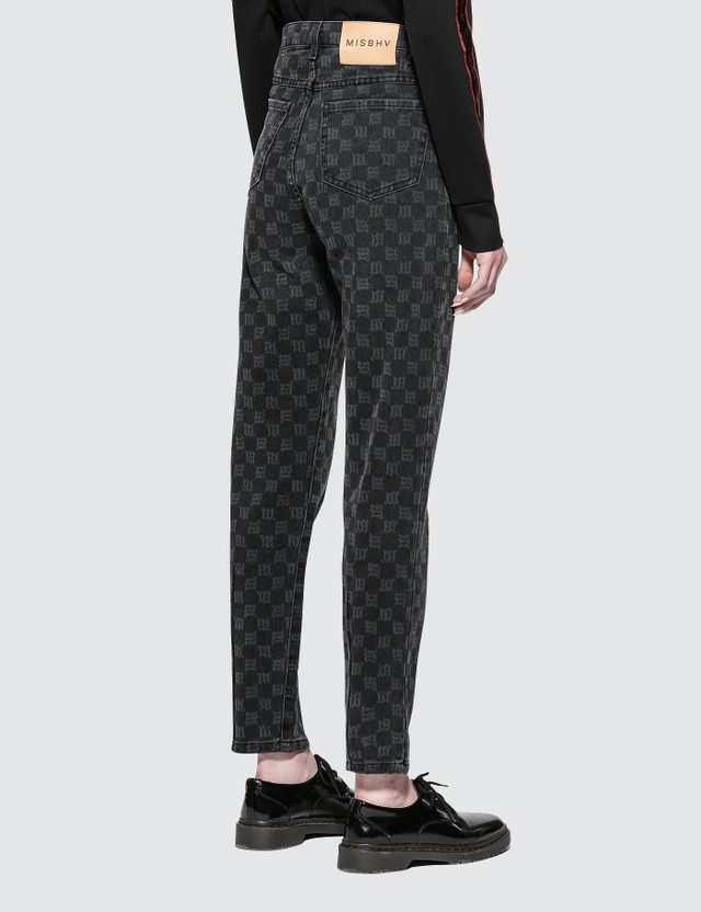 Misbhv Monogram Jeans Black