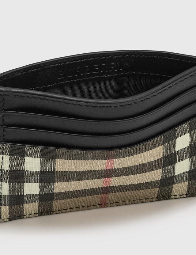 Burberry E-canvas Leather Money Clip Card Case Archive Beige Men