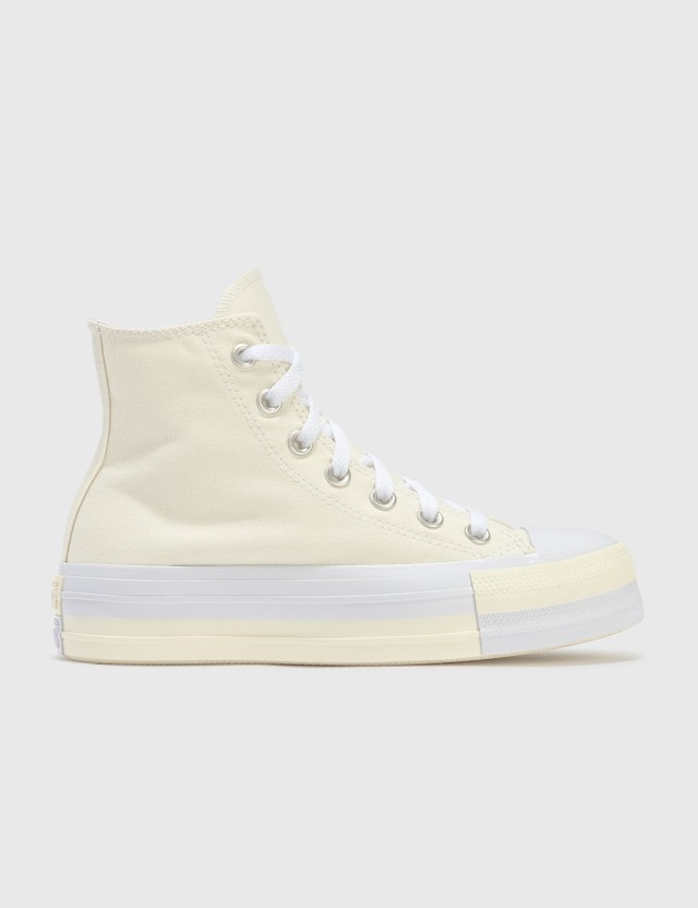 Converse Rivals Platform Chuck Taylor All Star Egret/university Red/white Women