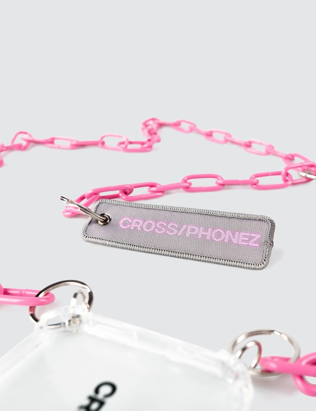 CROSS/PHONEZ Pink Chain Iphone Case
