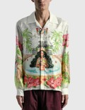 Casablanca Kamehameha Printed Silk Twill Shirt Picture